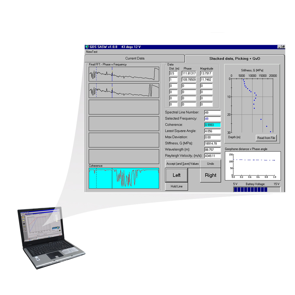 SASW Spectral Analysis of Surface Waves Software